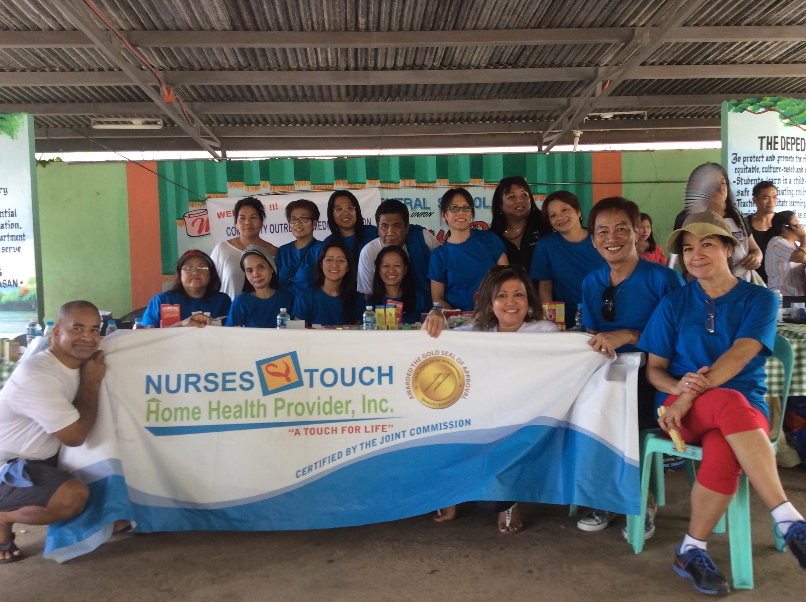 nurses touch banner